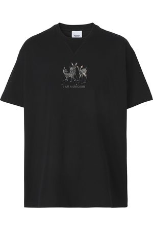 Burberry Deer-embroidered T-shirt