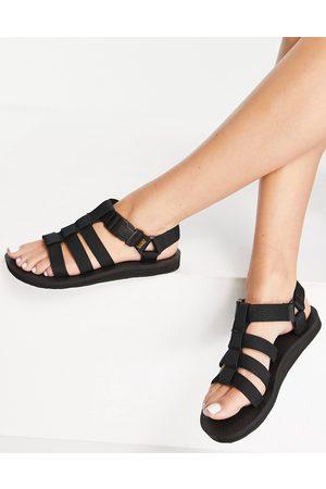 Teva Original Dorado caged flat sandals in black
