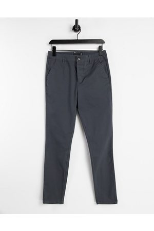 ASOS Power stretch chinos in charcoal-Grey
