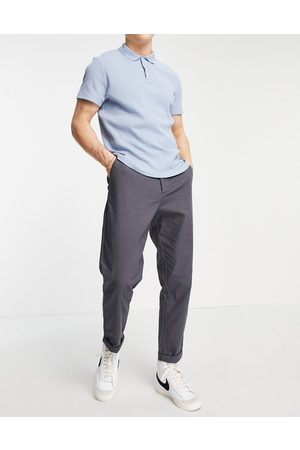 ASOS Tapered chinos in charcoal-Grey