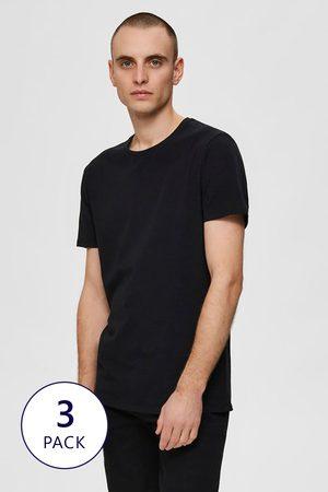 SELECTED 3 PACK triček New Pima