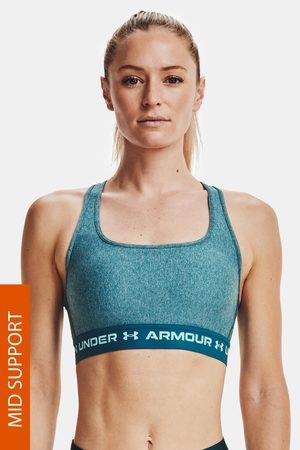 Under Armour Tyrkysová sportovní podprsenka Crossback Heather