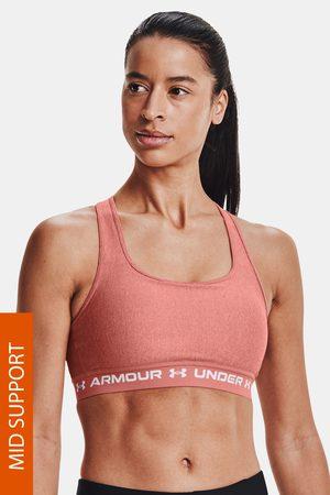 Under Armour Cihlová sportovní podprsenka Crossback Heather