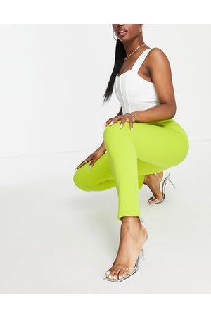 Public Desire Slim tailored trouser co ord in green