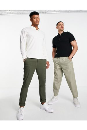 ASOS DESIGN Super skinny chinos in khaki-Green