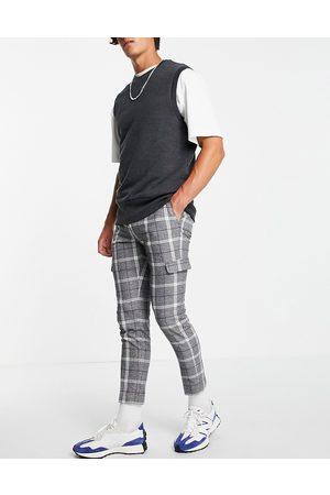 ASOS Skinny crop smart trouser in grey check