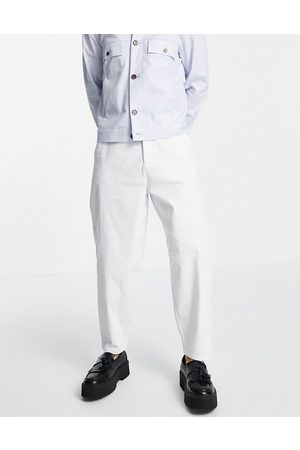 ASOS Oversized tapered fit chinos in white