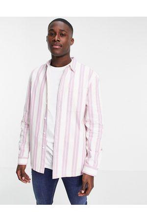 Topman Muži Volnočasové - Stripe overshirt in pink