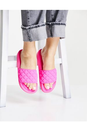 Glamorous Ženy Sandály - Quilted slide sandals in hot pink