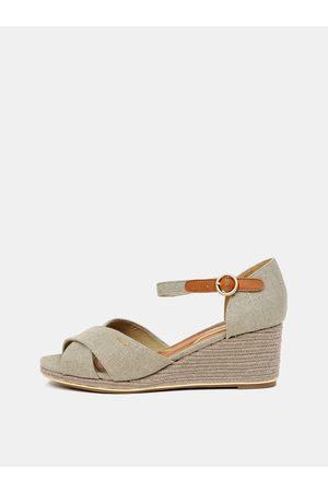 Wrangler Ženy Na klínku - Světle šedé sandálky na klínku