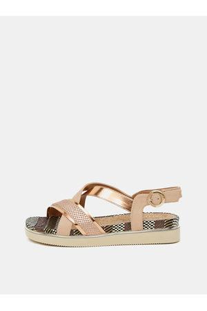 Wrangler Ženy Sandály - Dámské sandálky v růžovozlaté barvě