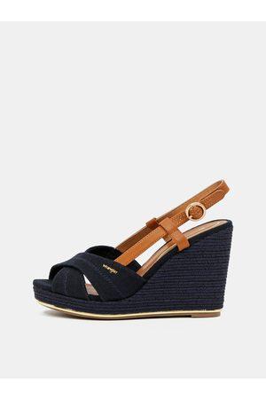 Wrangler Tmavě modré sandálky na klínku