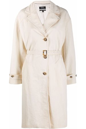 A.P.C. Belted single-breasted coat