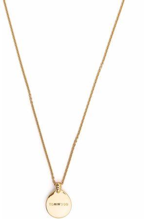 TOM WOOD Logo pendant necklace