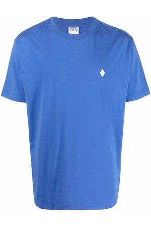 MARCELO BURLON Muži Trička - CROSS REGULAR T-SHIRT BLUE WHITE