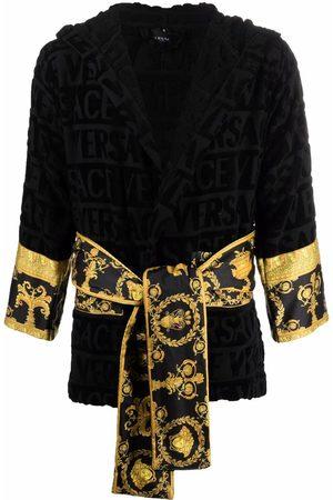 VERSACE Župany - Barocco-print cotton robe