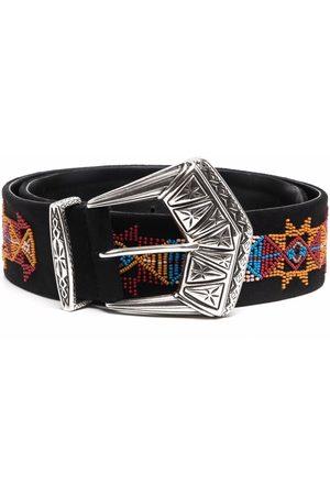 Etro Ženy Pásky - Geometric-print leather belt