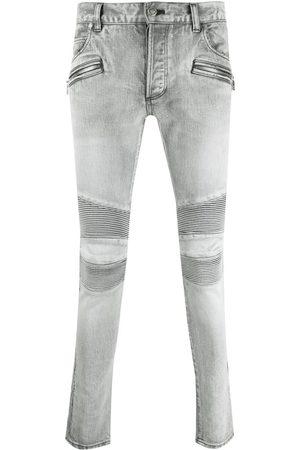 Balmain Ribbed-panel slim-fit jeans