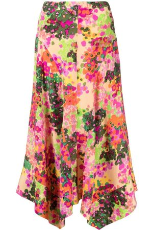 Stella McCartney Ženy S potiskem - Abstract floral-print Naya skirt