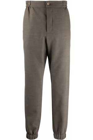 Etro Elasticated stretch-wool trousers