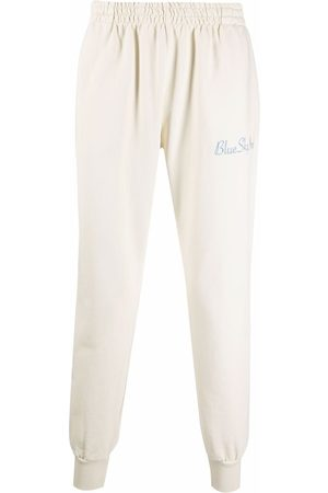 BLUE SKY INN Logo-embroidered cotton track pants