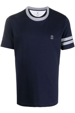 Brunello Cucinelli Logo-embroidered cotton T-shirt