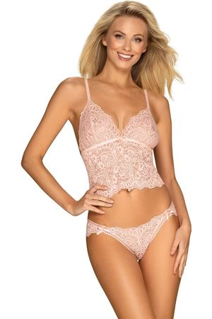 OBSESSIVE Úžasná souprava Delicanta top & panties pink - S/M