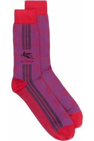 Etro Striped logo mid-calf socks