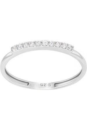 Brilio Elegantní prsten z bílého zlata se zirkony GR067WAU 48 mm