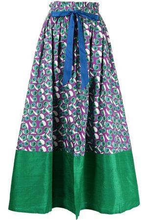 MEHTAP ELAIDI Geometric organic cotton maxi skirt