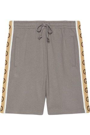 Gucci Interlocking G stripe cotton shorts