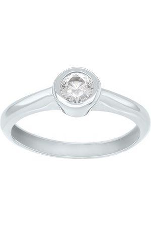 Brilio Půvabný prsten z bílého zlata se zirkonem SR042WAU 48 mm