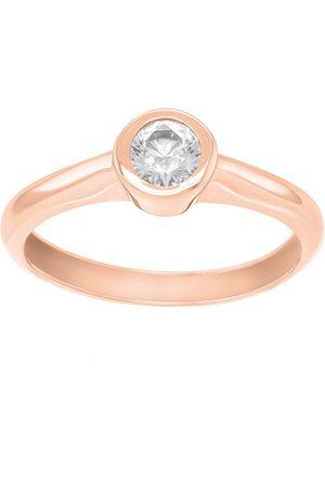 Brilio Půvabný prsten z růžového zlata se zirkonem SR042RAU 48 mm