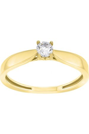 Brilio Nadčasový zásnubní prsten ze žlutého zlata GR114YAU 48 mm