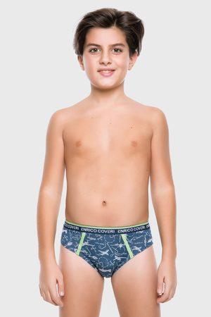 Enrico coveri Chlapci Spodní prádlo - Modré chlapecké slipy Airplane