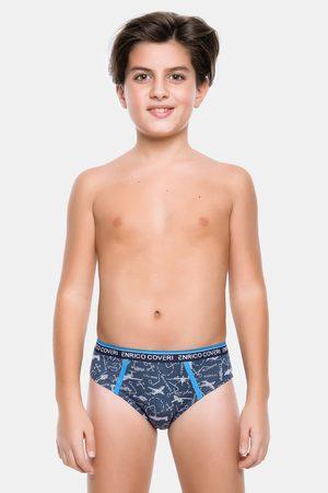 Enrico coveri Chlapci Spodní prádlo - Tmavě modré chlapecké slipy Airplane