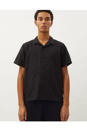 Weekday Muži S krátkým rukávem - Coffee paisley short sleeve shirt in black