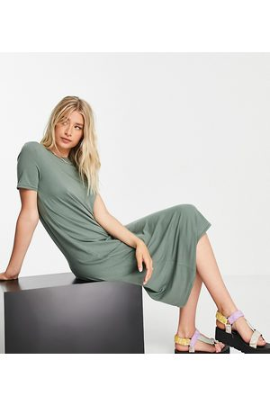 VERO MODA Ženy Midi - Midi t-shirt dress in khaki-Green