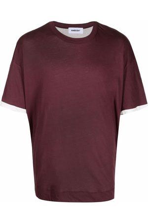 AMBUSH Muži S krátkým rukávem - Two-tone cotton T-shirt