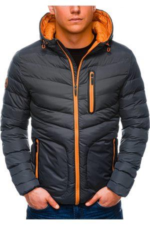 Ombre Clothing Pánská jarní bunda C356 - grafitová