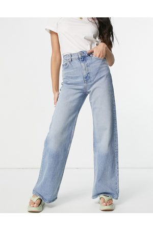 & OTHER STORIES Treasure organic cotton wide leg high rise jeans in fisher blue