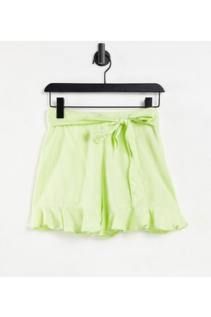 ASOS Ženy Pásky - ASOS DESIGN Petite short with tie belt detail in washed green