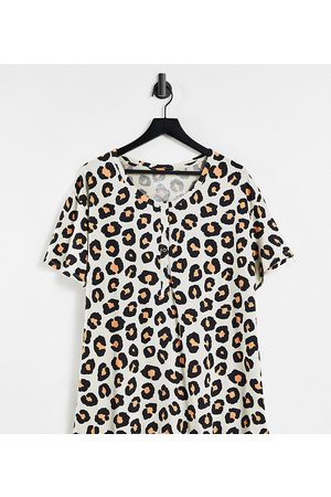 Lindex Ženy Tílka - Exclusive MOM Mia organic cotton button front nursing top in leopard print-Neutral