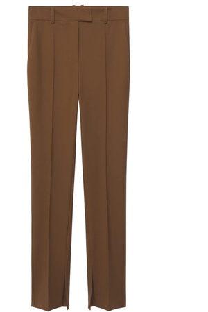 MANGO Kalhoty se sklady v pase