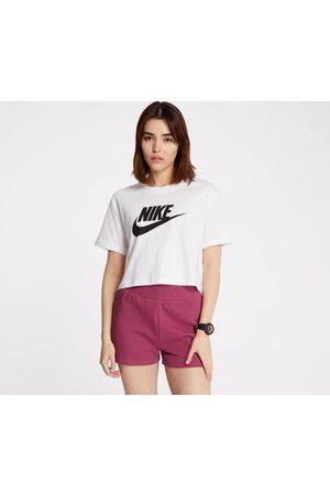 Nike Ženy Trička - Sportswear Essential Cropped Icon Future Tee White/ Black