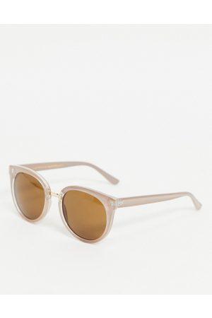 A.Kjaerbede Gray womens oversized cat eye sunglasses in grey