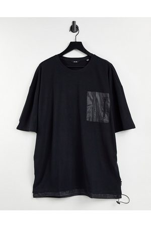 Only & Sons Oversize t-shirt with nylon pocket in black