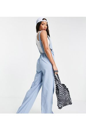 Noisy May Denim dungaree jumpsuit in light blue wash