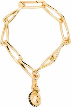Missoma Twisted Link chain pavé sphere bracelet