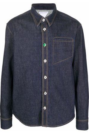 Bottega Veneta Straight-point collar denim shirt
